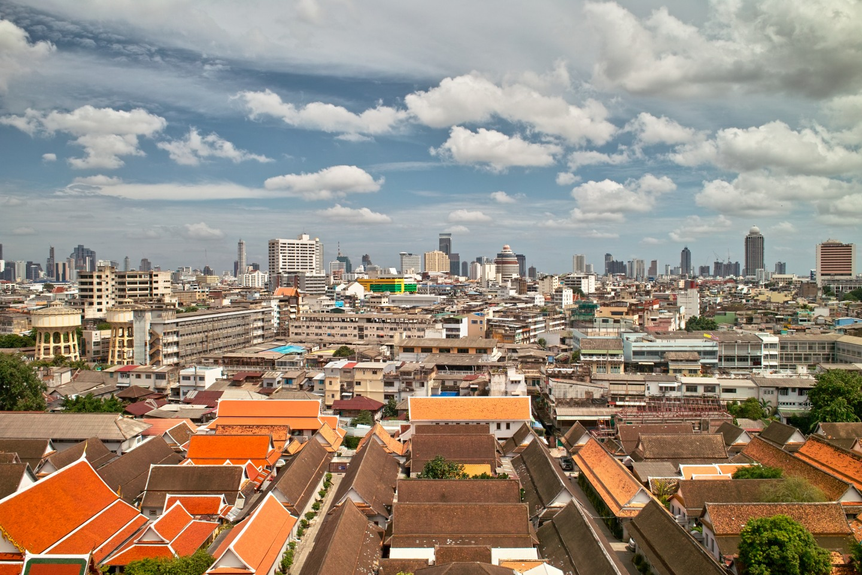 Blick vom Gold Mountain über Bangkok.