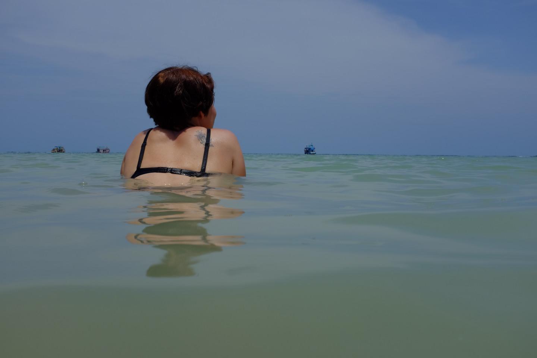 Endlich wieder im Meer baden...