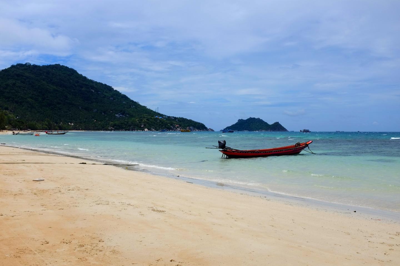 Sairee Beach auf Koh Tao.